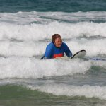Knee surfing! Brilliant fun :)