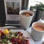 Tomato Basil Soup....Variety of Salads...Iced Tea