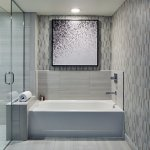 This expansive bathroom will exceed all expectations of your stay.