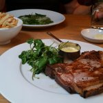 Black pig pork chop with fries and Béarnaise (£18.00)