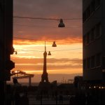 Sunset from rue St Jean