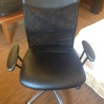 Desk chair was well-worn, you would adjust it up to normal heighth...and it sank back to floor.