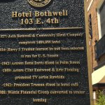 Historical marker for the hotel....Ivory Grille Restaurant and Bar inside the hotel