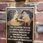 plaque by the front door