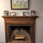 Fireplace (Bill laid the tile!)
