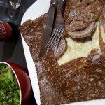 Crêpe Saucisse Guemene + Fromage