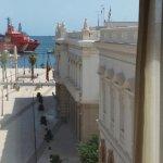Vista del puerto marítimo