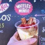 Mousse Marroc en Waffles del Mundo. Ideal para compartir.