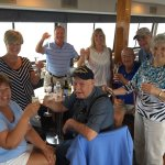 Our group toasting two birthdays