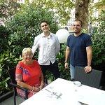 Prof. Ljiljana Markovic & Marko  Bozovic with waiter Alvin (photo by Prof.  HJ Birx).