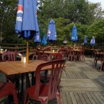 Enjoy eating out on the patio on a beautiful day