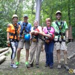 We had a great time zip lining at Common Ground Canopy Tours!