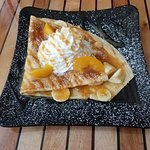 Peach bananas crepe!!