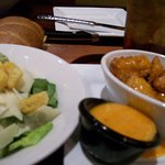Appetizer: Wings and Salad and Bread