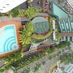 Hotel Swimming pool located at 4th Floor Tower B (view from Tower B)