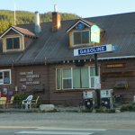 The only other commercial building of significance in the town is this general store next door.