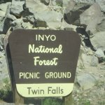 Twin Falls, Mammoth LAkes, Inyo National Forest Picnic Ground, Ca
