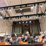 The stage with members of the Scottish Symphony Orchestra