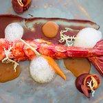 Caribineiro, citrinos e cenouras | Red prawns, citrus and carrots