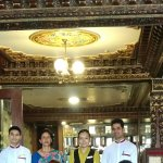 Lobby with their staff