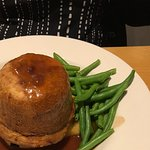Steak and ale pie on mash