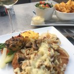 The first picture is of the delicious Schnitzel and the other two are from my delightful views f