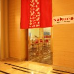 Entrance of Sakura Restaurant