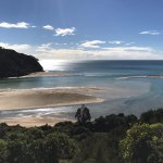 panorama prima di arrivare all'Awaroa Hut