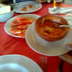 Salmorejo riquísimo y tomates de la Sierra