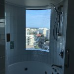 Room 1302. Shower with a view.