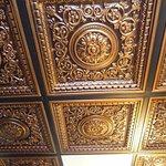 "recreated ""tin"" ceiling"