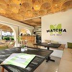 Matcha Cafe Bali interior design of the cafe