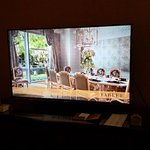 Large screen TV in the room