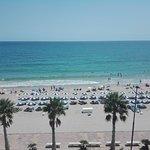 Vista a la playa desde la habitación