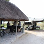 Each camping site had a lapa