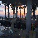 Sunset at pool bar