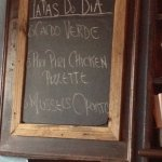 Tapas of the Day Sign