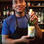 Abidas and the Happy Hour White Wine Bottle