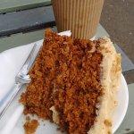 my take-a-way coffee and cake