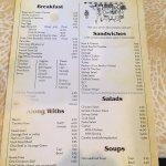 The menu selections