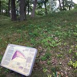 Mound with interpretive sign