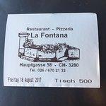Photo de Pizzeria La Fontana