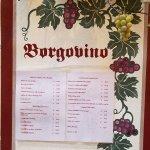Borgovino Menue
