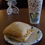 Breakfast sandwich and Caramel Macchiato for under $10!!!!!