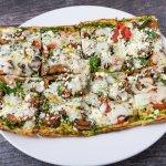 Spinach and Pesto Pizza