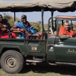 Lance Clevinger with the world's best safari guides, Senchura and Joseph.