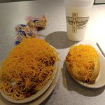 5-way chili and a cheese coney. Yum!