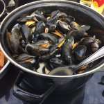 Portion géante de moules