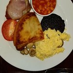 Full english breakfast at the attached restaurant
