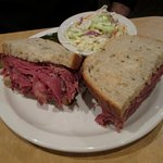 This is their version of a Reuben, I prefer the Rachel (pastrami) myself.
